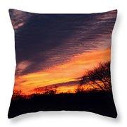 December Sunset Throw Pillow