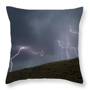 Decending Table Mountain   #8446 Throw Pillow