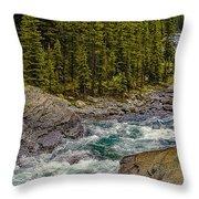 Dechutes River Rapids Bend Oregon Throw Pillow