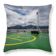 Deck On The Navimag Ferry Throw Pillow