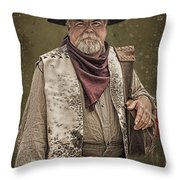 Decked Out For Whiskey Row Shootout Throw Pillow