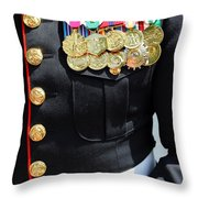Decked Out In Courage Throw Pillow