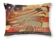 Declaration Of Independence  Throw Pillow by Beverly Guilliams