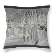 Declaration Of Independence In Negative Throw Pillow