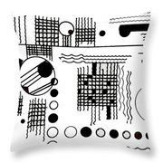 Deco 5 Throw Pillow