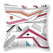 Deco 9 Throw Pillow