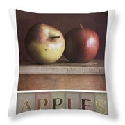 Deco Apples Throw Pillow