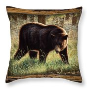 Deco Black Bear Throw Pillow