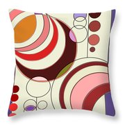 Deco Circles Throw Pillow