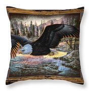 Deco Eagle Throw Pillow