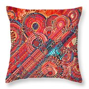 Deco Flower Swirls Throw Pillow