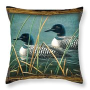 Deco Loons Throw Pillow