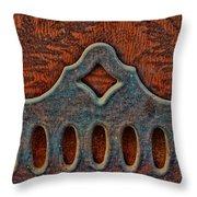 Deco Metal Red Throw Pillow