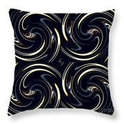 Deco Swirls Throw Pillow