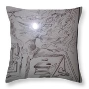 Decomposition Of Kneeling Man Throw Pillow