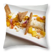 Deconstructed Cheesecake Throw Pillow