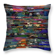 Deconstructed Landscape In A Drawer Throw Pillow