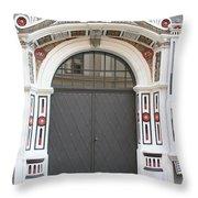 Decorated Old Door Throw Pillow
