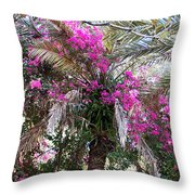 Decorated Palm Throw Pillow