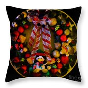 Decorated Wreath Throw Pillow