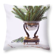 Decorating For Christmas Throw Pillow