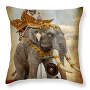 Decorative Elephant Throw Pillow by Adrian Evans