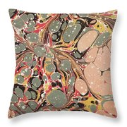 Decorative End Paper  Throw Pillow