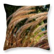 Decorative Grass Wind Autumn And Orton Throw Pillow