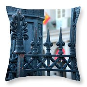 Decorative Iron Fence In New Orleans Throw Pillow