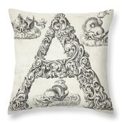 Decorative Letter Type A 1650 Throw Pillow