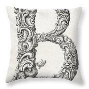 Decorative Letter Type B 1650 Throw Pillow