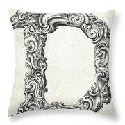 Decorative Letter Type D 1650 Throw Pillow