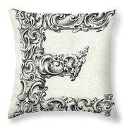Decorative Letter Type E 1650 Throw Pillow