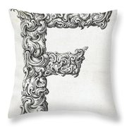 Decorative Letter Type F 1650 Throw Pillow
