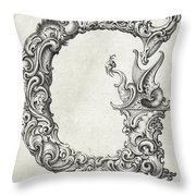 Decorative Letter Type G 1650 Throw Pillow