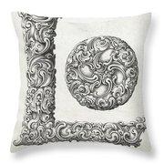 Decorative Letter Type L 1650 Throw Pillow