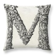 Decorative Letter Type M 1650 Throw Pillow