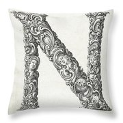 Decorative Letter Type N 1650 Throw Pillow