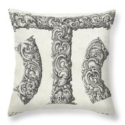 Decorative Letter Type T 1650 Throw Pillow