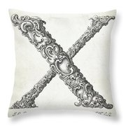 Decorative Letter Type X 1650 Throw Pillow