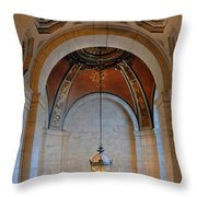Decorative Light At The New York Public Library Throw Pillow