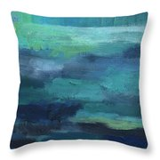 Tranquility- Abstract Painting Throw Pillow
