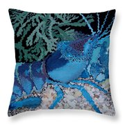 Deep Blue Throw Pillow