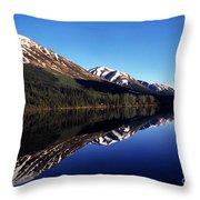 Deep Blue Lake Alaska Throw Pillow by Thomas R Fletcher