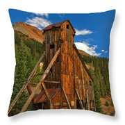 Deep Blue Over Historic Silver And Gold Throw Pillow