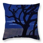 Deep - Blue - Sunset Throw Pillow