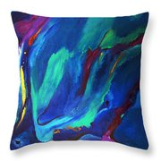 Deep Blue Thoughts Throw Pillow