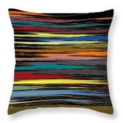 Deep Color Field 2 Throw Pillow