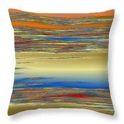 Deep Color Field 4 Throw Pillow