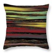 Deep Color Field Throw Pillow
